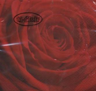 Napkins 24x24 cm - Belle Rose du Matin red