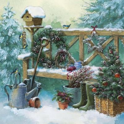 Napkins 33x33 cm - Winter Gardening