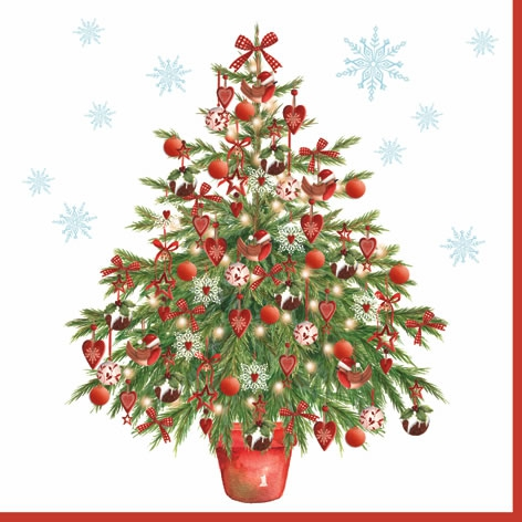 Napkins 33x33 cm - Nostalgic Christmas Tree