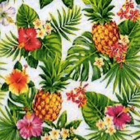 Napkins 33x33 cm - Pineapples & Palmleaves white