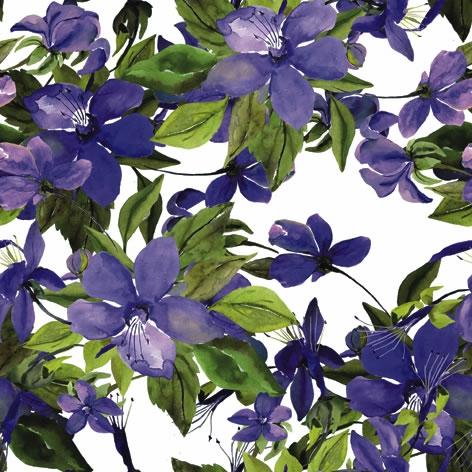 Napkins 33x33 cm - Flowering Clematis lilac