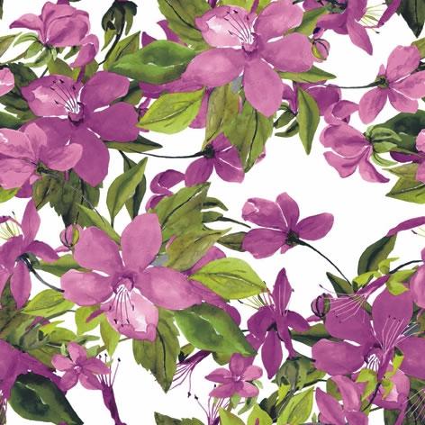 Napkins 33x33 cm - Flowering Clematis pink
