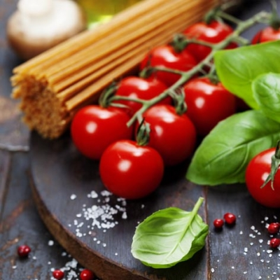 Tovaglioli 33x33 cm - Spaghetti, Tomatos with Herbs