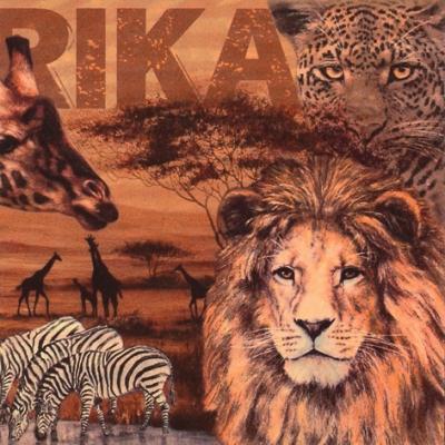 Servilletas 33x33 cm - Africa Collage