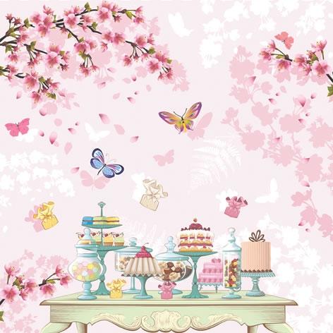 Servietten 33x33 cm - Happy Birthday Table