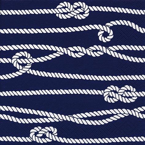 Napkins 33x33 cm - Marine Rope & Knots