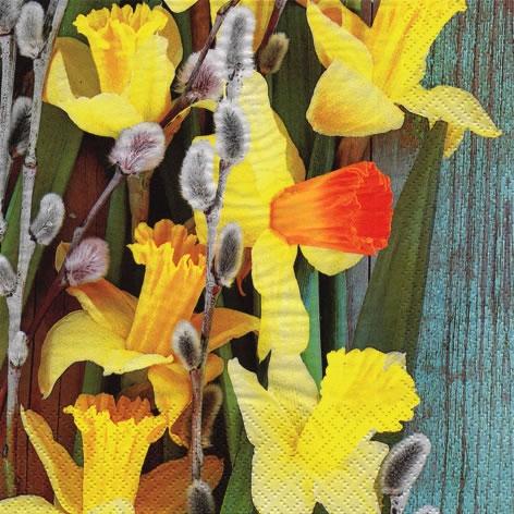 Servilletas 33x33 cm - Narcisos