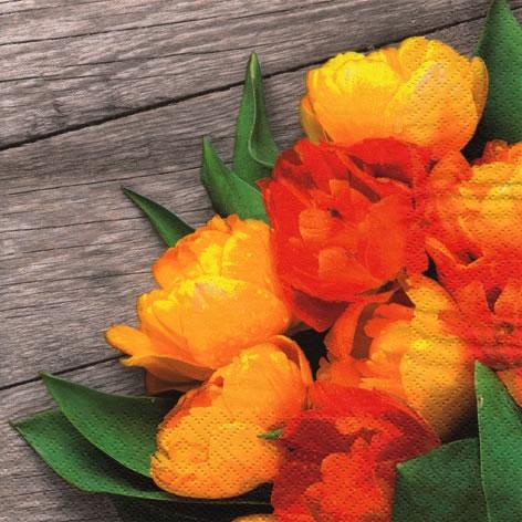 Servilletas 33x33 cm - Colorful Bouquet of Tulips